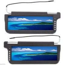 "2019 BLACK PAIR 12.2"" CAR SUNVISOR VISOR SCREEN HIGH DEFINITION LCD MONI... - $197.01"