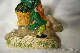Vaillancourt Irish Santa Gnome Riding Rabbit Personally signed by Judi! image 3
