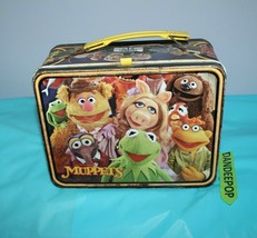 Thermos King Seeley Jim Henson's Muppets Tin Metal Vintage Lunchbox 1979 - $29.69