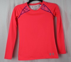 Under armour youth girls sweater long sleeve pink size YMD/JM/M - $15.71