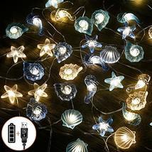 Nautical Beach Decor led String Lights Under The sea Coastal Ocean Theme Navy Fi image 11