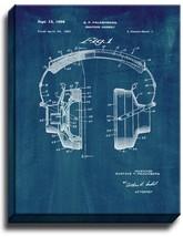 Headphones Patent Print Midnight Blue on Canvas - $39.95+