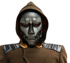Xcoser Dr Doom Mask Fantastic Four Movie Cosplay Props Gray PVC Adult Mask - $84.26 CAD