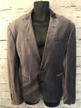 Zara Man Silver Grey Velvet Blazer Jacket Euro 54 UK 44 - $89.82