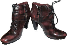 Vince Camuto Ankle Lace Up Combat Buckle Boots Booties 8 / 38 image 3