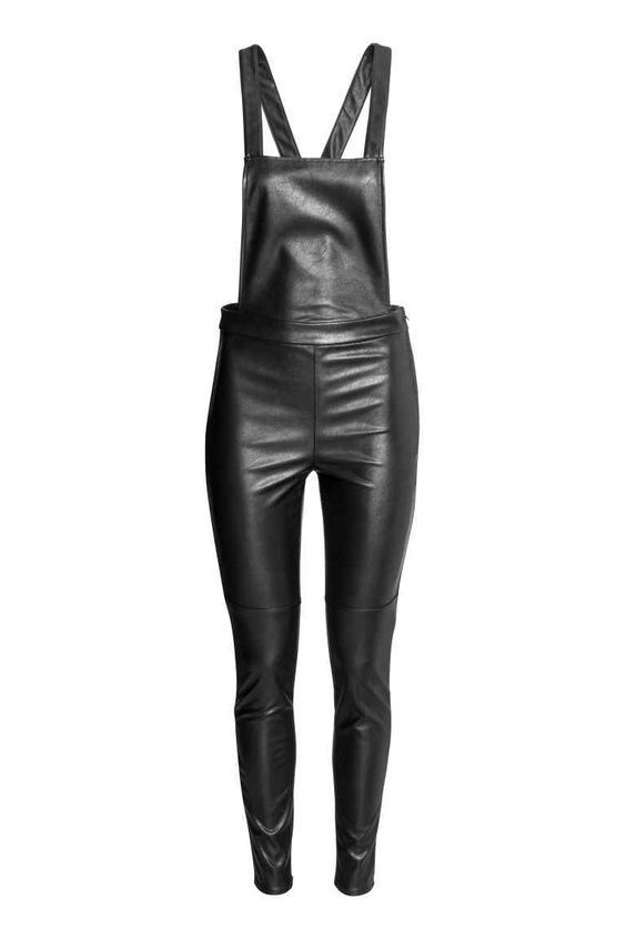 Halter Strap Hot Women's Genuine Leather Cocktail Party Outdoor Jumpsuit-JW27