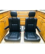 DODGE CARAVAN SEATS OEM GO TOWN and COUNTRY LEATHER BLACK - $454.41