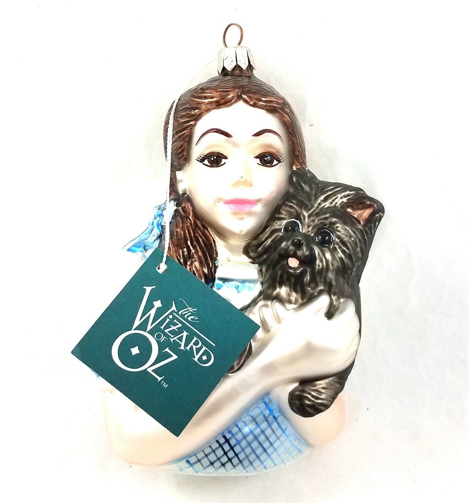 Primary image for 1998 Kurt Adler Wizard of Oz Polonaise Dorothy Toto Mercury Glass Bust Ornament