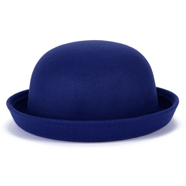 Vintage Wool Winter Hats For Women Ladies Fashion Bowler Derby Fedora Cap Floppy image 4