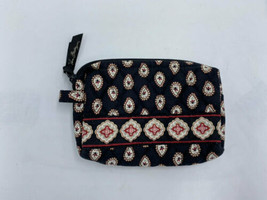 Vera Bradley Classic Black Small Cosmetic Makeup Bag Lined Toiletry - $12.99