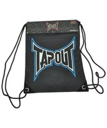 TAPOUT MMA Black & Blue Drawstring Backpack/ Back Sack Cinch Gym Sack - $13.29
