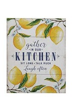 "Creative Co-Op ""Gather in Our Kitchen..."" Wood Wall Décor with Lemons - $40.42"