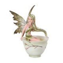 Green Tea Faery- Tea Cup Faery Collection by Amy Brown Fantasy Art - $28.70