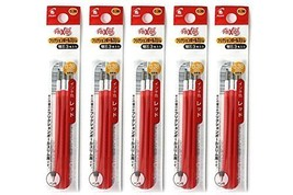 Pilot Frixion Ball Slim Gel Ink Pen Refill-0.38mm-red-pack of 3x5 - $16.91