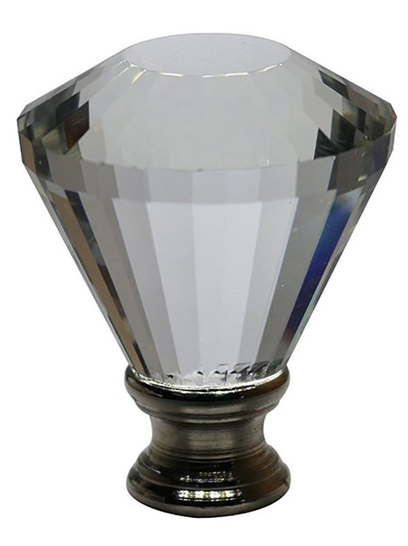 "Urbanest Crystal Diana Lamp Finial, 2"" Tall"