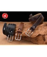 Fashion Men Leather Belts | Luxury Design | Vintage Waist Belt For Jeans... - $15.99