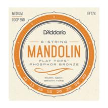 D'Addario Mandolin Strings - Flat Tops - Phosphor Bronze Medium Loop End - $23.05