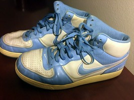 Nike Air Indee High Shoes  345211-004 Basketball Casual Leather Blue- Si... - $29.69