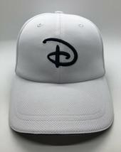 Disney Parks Big D Cap Hat Adult Adjustable White Polyester - $13.86