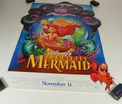Disney Little Mermaid Movie Promo Poster '97 Ariel in Snowglobe Ursula F... - $14.99