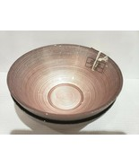 x2 TURKISH DELIGHTS BLUSH PINK SILVER SPARKLE BOWLS GLASS PLATES EASTER - $32.99