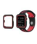 Replacement Band Strap + Case For Nike+ Apple iWatch Watch 123 Black Red... - $13.09