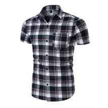 Laamei Plaid Shirt Men Shirts 2018 New Summer Spring Fashion Chemise Hom... - $14.97+
