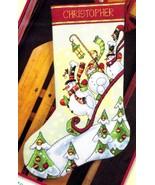 Dimensions Sledding Snowmen Snowman Christmas Cross Stitch Stocking Kit ... - $39.95