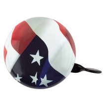 """LARGE STEEL 3"""" BICYCLE BIKE DING DONG BELL USA FLAG OLD GLORY NEW - $15.89"""