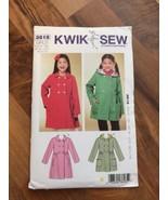 Kwik Sew 3818 by Kerstin Martensson Patterns Girls Double Breasted Coat ... - $7.69
