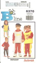 Butterick #6370 Children's Top Skirt Pants Leggings Pattern Size 2-6X UN... - $8.47