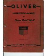 Oliver Cletrac AG-6 Manual 1947 - $9.97
