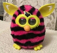 Furby Boom Figure Hot Pink with Black Stripes - Discontinued, A4337, WORKS!!! - $17.82