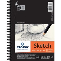 Canson Artist Series Universal Paper Sketch Pad, For Pencil And Charcoal... - $13.03