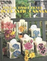 Floral Tissue Covers in Plastic Canvas Leisure Arts 1214 6 Patterns 7mes... - $8.01