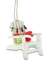 Coastal Beach Adirondack Chair Christmas Tree Holiday Ornament - $29.76