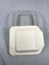 Pyrex 222-R 2QT-2L ( 8x8x2 in )w pyrex Plastic Lid - Vintage Collectable - $29.65