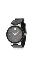 Movado Mens 0606926 Analog Display Swiss Quarts Black Watch Opened Box - $397.97