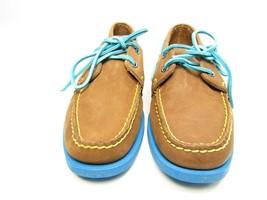 Sebago Docksides  Leather Brown & Blue Moccasins  Loafers Shoes Flats Si... - $53.20