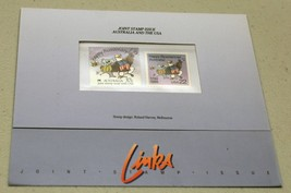 22c 37c USA AUSTRALIA BICENTENNIAL 1988 JOINT ISTAMP ISSUE FOLDER 2370 1... - $5.00