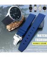 19 20 21mm Rubber Silicone Watch Strap Butterfly Buckle Needle Buckle Sp... - $46.52+