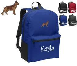 Personalized Kids Backpack Embroidered German Shepherd Dog Monogrammed w... - $20.99