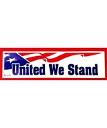"""UNITED WE STAND Vinyl Decal 3"""" x 11 1/2"""" AMERICAN FLAG DESIGN - $1.48"""