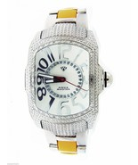 Aqua Master white face index 20 Diamonds Stainless steel band watch - $178.19