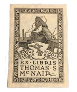 Ex Libris Exlibris Bookplate 1824 1901 Mill Thomas McNair Crow - $29.69