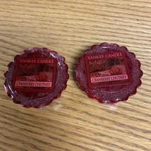 2 Yankee Candle Cranberry Chutney Wax Melt Tart apx 8 hours South Deerfi... - $5.93