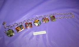 """Women's Chico's Polished Gemstone Circle & Square Silver Links Belt 40"""" M - $29.69"""