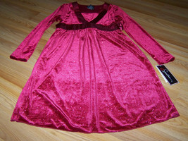 Girls Size Large Speechless Red Velour Holiday Christmas Dress Sparkle S... - $24.00