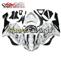 White Black Fairing Kit For 2007 - 2008 Kawasaki ZX6R ABS Frames Cowling... - $451.03