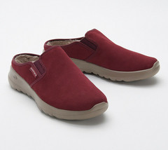 Skechers GOWalk Joy Women's Water-Repellent Suede Clogs - Snuggly Burgundy 8.5 W - $34.64